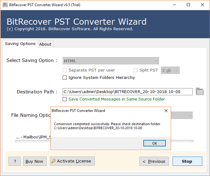 Outlook PST to HTML migration