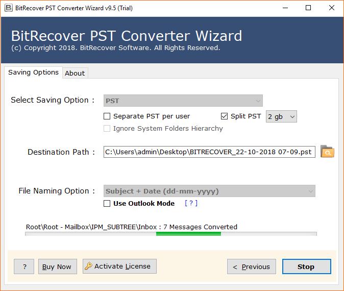 Outlook PST Splitter Tool
