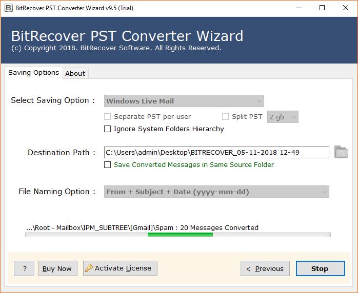 PST to Windows Live Mail Converter