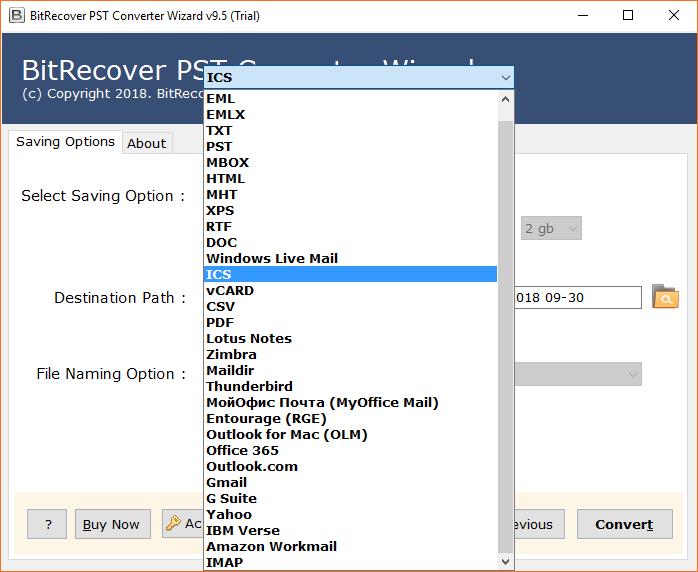 PST to ICS Converter Export Outlook Calendar to ICS