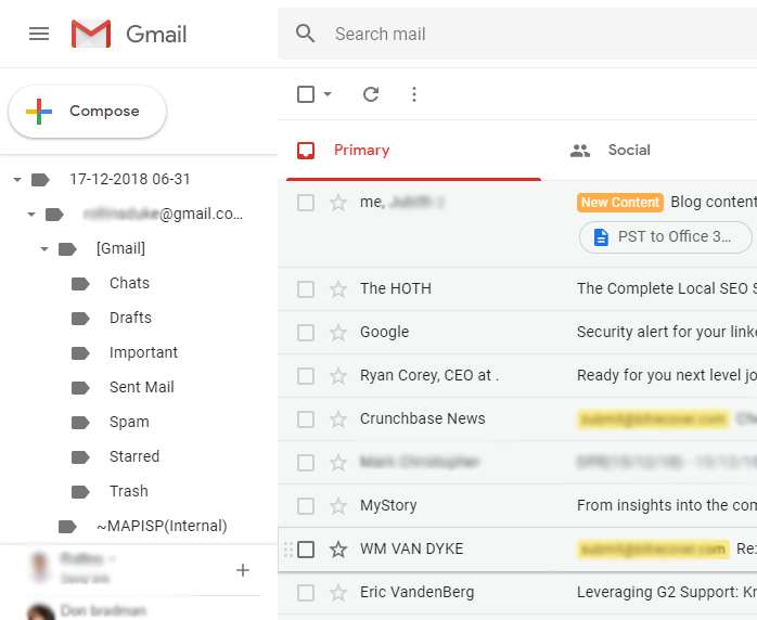 PST to Gmail Converter to Migrate Outlook to Gmail Free Account
