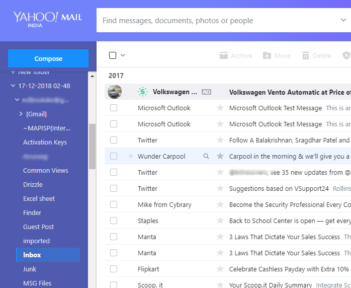 Import Outlook PST to Yahoo Mail Including Emails