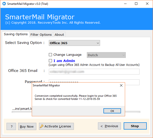 Migrate SmarterMail to Office 365 Containing Emails