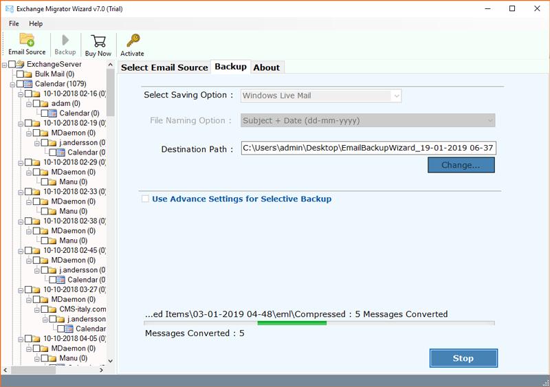 Windows Live Mail Exchange