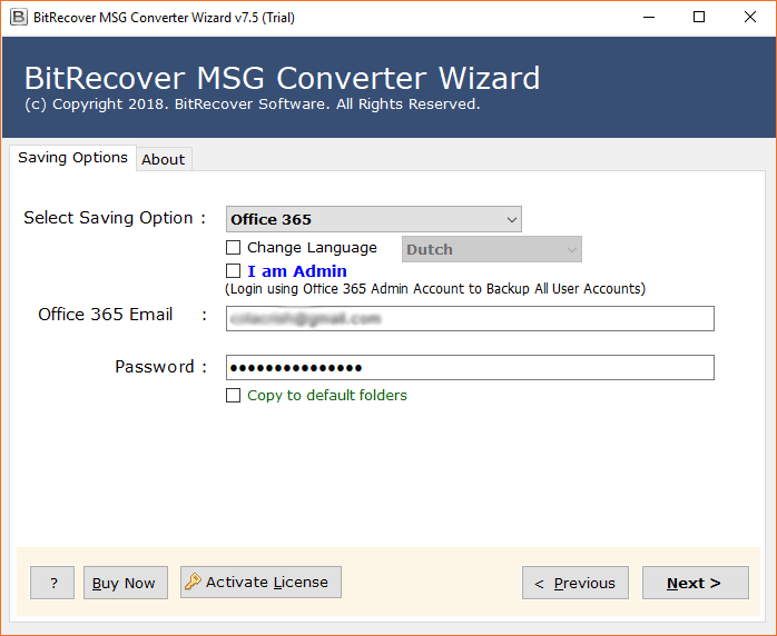 Import Outlook MSG to Office 365 Cloud-Based Account