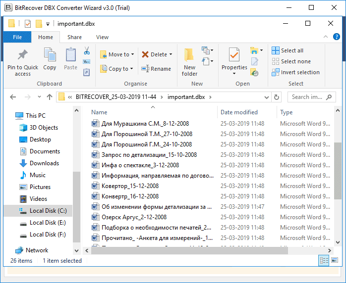 DBX to DOC Converter – Export Outlook Express DBX Files to