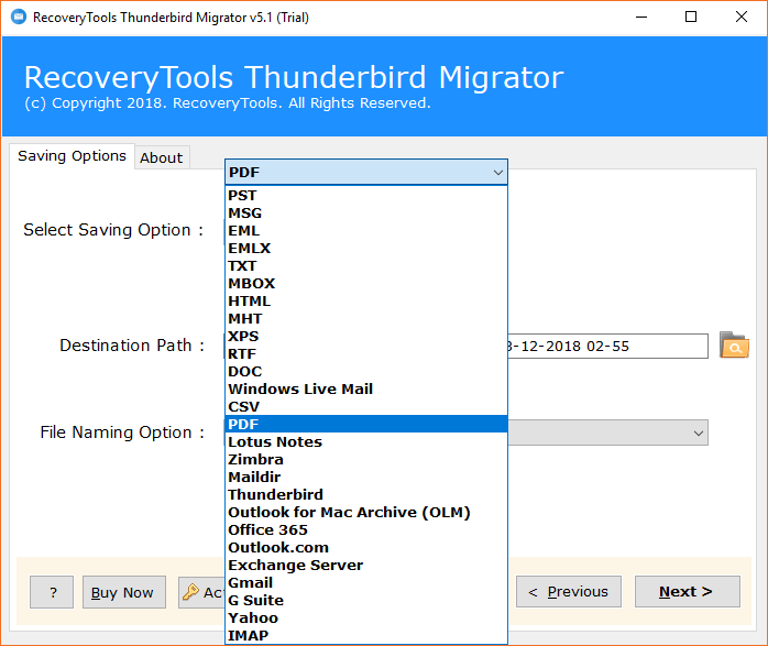 Thunderbird File Converter to Export Thunderbird Email Messages in